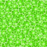 Modelo inconsútil de la rebanada verde de la cal ilustración del vector