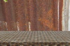 Modelo inconsútil de la rejilla del metal en el cinc Foto de archivo libre de regalías