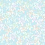 Modelo inconsútil de la repetición del vector del fondo floral en colores pastel suave stock de ilustración
