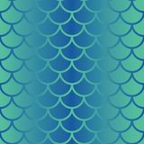 Modelo inconsútil de la repetición de la escala de pescados del vector en sombras de la pendiente azul Fondo inconsútil del estil libre illustration