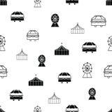 Modelo inconsútil de la repetición de los elementos blancos y negros del carnaval del vector libre illustration