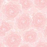 Modelo inconsútil de la rosa de la flor Fotografía de archivo libre de regalías