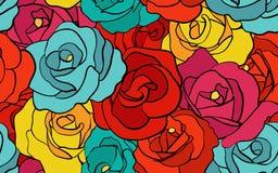 Modelo inconsútil de la rosa retra libre illustration