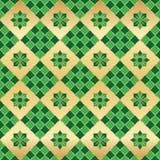 Modelo inconsútil de la simetría verde de la forma del Ramadán stock de ilustración