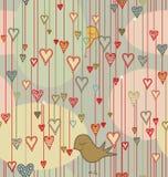 Modelo inconsútil de la tarjeta del día de San Valentín Imagen de archivo libre de regalías