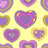 Modelo inconsútil de la tarjeta del día de San Valentín Foto de archivo libre de regalías