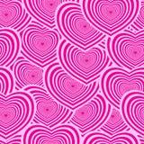 Modelo inconsútil de la tarjeta del día de San Valentín Fotos de archivo libres de regalías