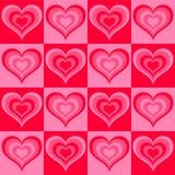 Modelo inconsútil de la tarjeta del día de San Valentín Foto de archivo