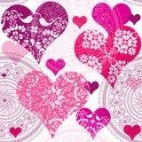 Modelo inconsútil de la tarjeta del día de San Valentín Fotografía de archivo libre de regalías