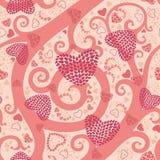 Modelo inconsútil de la tarjeta del día de San Valentín libre illustration