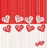 Modelo inconsútil de la tarjeta del día de San Valentín en vector Fotografía de archivo
