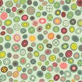 Modelo inconsútil de la tela de la primavera con los puntos de la flor Fotos de archivo libres de regalías