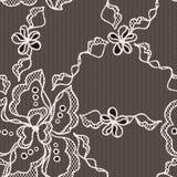 Modelo inconsútil de la tela del cordón con las flores abstractas Fotografía de archivo libre de regalías