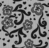 Modelo inconsútil de la tela del cordón negro Foto de archivo libre de regalías