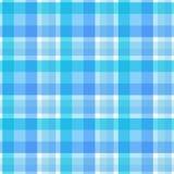 Modelo inconsútil de la tela escocesa azul Vector Fotos de archivo libres de regalías