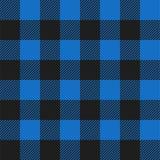 Modelo inconsútil de la tela escocesa del control del búfalo azul claro y negro ilustración del vector