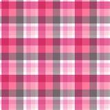 Modelo inconsútil de la tela escocesa rosada y gris Vector Foto de archivo