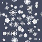 Modelo inconsútil de la textura de los copos de nieve del invierno Fotografía de archivo libre de regalías
