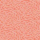Modelo inconsútil de la textura floral blanca rosada de la hoja stock de ilustración