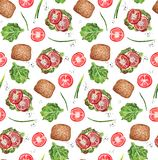 Modelo inconsútil de la tostada del tomate libre illustration