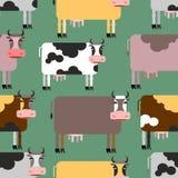 Modelo inconsútil de la vaca Fondo de animales Manada de la granja de las vacas libre illustration