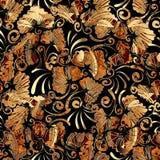 Modelo inconsútil de la vendimia floral Fondo abstracto del vector con Fotos de archivo