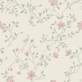 Modelo inconsútil de la vendimia floral ligera Fotos de archivo