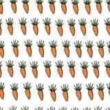 Modelo inconsútil de la zanahoria de pascua en el contexto blanco libre illustration