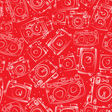 Modelo inconsútil de las cámaras blancas de la foto Imagenes de archivo