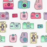Modelo inconsútil de las cámaras de la foto Fotos de archivo libres de regalías