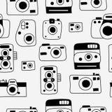 Modelo inconsútil de las cámaras de la foto Imagen de archivo