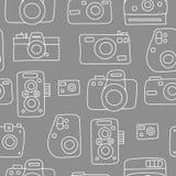 Modelo inconsútil de las cámaras de la foto Fotos de archivo