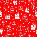 Modelo inconsútil de las cajas de regalo Imágenes de archivo libres de regalías
