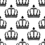 Modelo inconsútil de las coronas reales del vintage Imagen de archivo