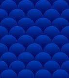 Modelo inconsútil de las esferas azules ilustración del vector