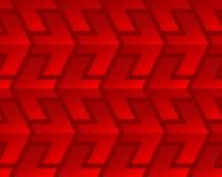 Modelo inconsútil de las flechas brillantes rojas Fotografía de archivo