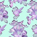 Modelo inconsútil de las flores de la primavera stock de ilustración