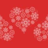 Modelo inconsútil de las flores de los corazones Imágenes de archivo libres de regalías