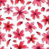 Modelo inconsútil de las flores del color de agua ilustración del vector
