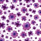 Modelo inconsútil de las flores del color de agua libre illustration