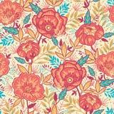Modelo inconsútil de las flores vibrantes coloridas Fotos de archivo libres de regalías