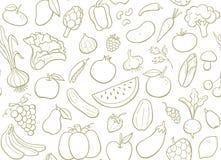 Modelo inconsútil de las frutas y verdura Imagen de archivo libre de regalías