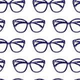 Modelo inconsútil de las gafas de sol Fotos de archivo libres de regalías