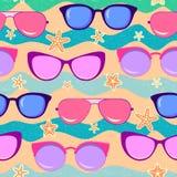 Modelo inconsútil de las gafas de sol imagenes de archivo