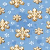 Modelo inconsútil de las galletas de la Navidad Foto de archivo libre de regalías