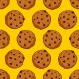 Modelo inconsútil de las galletas Fondo de los pasteles ornamento de la comida Swee Fotografía de archivo