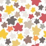 Modelo inconsútil de las hojas de otoño Foto de archivo libre de regalías
