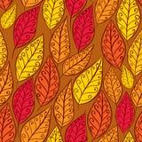 Modelo inconsútil de las hojas de otoño, backgroun inconsútil del vector floral Imágenes de archivo libres de regalías