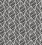 Modelo inconsútil de las hojas decorativas de la teja de mosaico Fondo continuo de la hoja Textura floral ilustración del vector