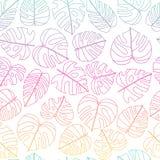 Modelo inconsútil de las hojas tropicales del vector libre illustration